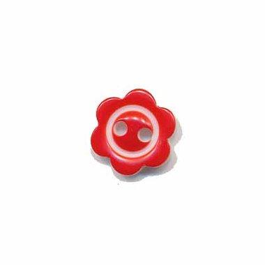 Bloemknoop met rand rood 10 mm (ca. 100 stuks)