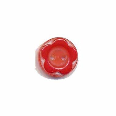 Bloemknoop met opstaande rand rood 11 mm (ca. 100 stuks)