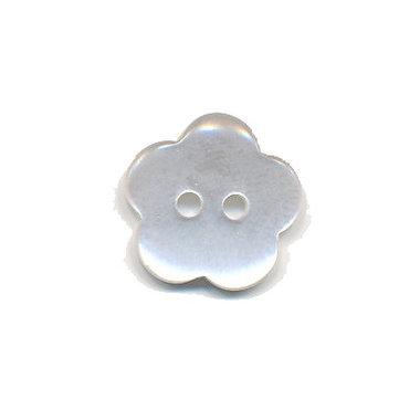 Bloemknoop wit 15 mm (ca. 50 stuks)