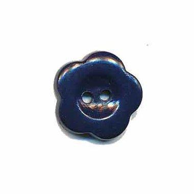 Bloemknoop donker blauw 15 mm (ca. 50 stuks)