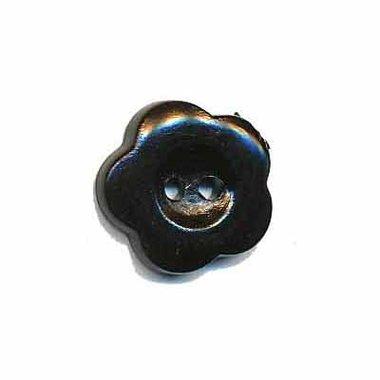 Bloemknoop zwart 15 mm (ca. 50 stuks)