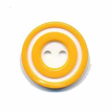 Knoop 'donut' middel geel 20 mm (ca. 25 stuks)