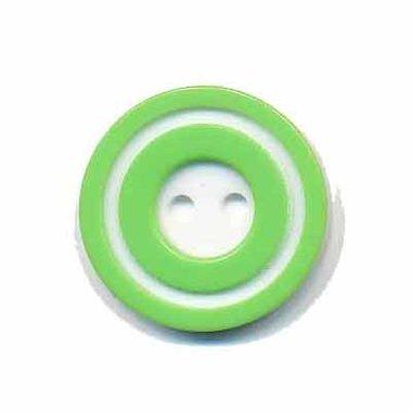 Knoop 'donut' middel appel groen 20 mm (ca. 25 stuks)