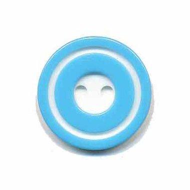 Knoop 'donut' middel blauw 20 mm (ca. 25 stuks)