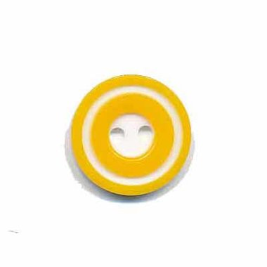 Knoop 'donut' klein geel 15 mm (ca. 50 stuks)