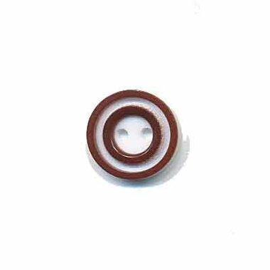 Knoop 'donut' mini bruin 10 mm (ca. 100 stuks)