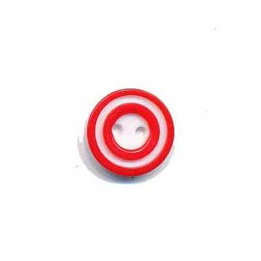 Knoop 'donut' mini rood 10 mm (ca. 100 stuks)