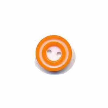 Knoop 'donut' mini oranje 10 mm (ca. 100 stuks)