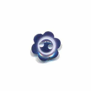 Bloemknoop met rand donker blauw 10 mm (ca. 100 stuks)