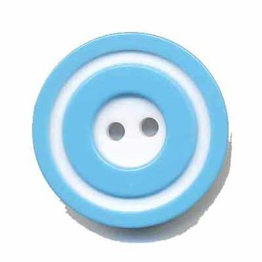 Knoop 'donut' groot blauw 25 mm (ca. 25 stuks)