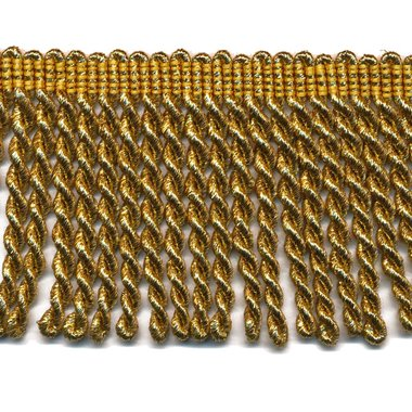 Franjeband gedraaid warm goud lurex ca. 70 mm (ca. 25 meter)
