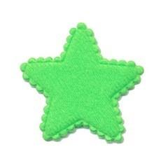 Applicatie ster vilt NEON groen middel 35 mm (ca. 25 stuks)
