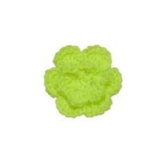 Gehaakt roosje NEON groen 25 mm (10 stuks)