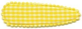 Haarkniphoesje geruit wit-geel 5 cm (ca. 100 stuks)