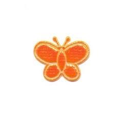 Applicatie glim vlinder oranje klein 20 x 20 mm (ca. 100 stuks)