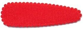 Haarkniphoesje rood vilt 5 cm (ca. 100 stuks)