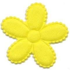 Applicatie bloem NEON geel vilt groot 45 mm (ca. 100 stuks)