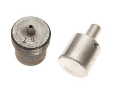 Ponsgereedschap 2 mm (maat #12) voor gebruik in handpers