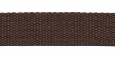 Tassenband 20 mm bruin (50 m)