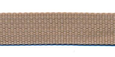 Tassenband 20 mm zand (50 m)