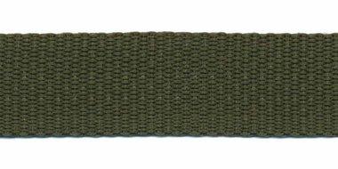 Tassenband 20 mm legergroen (50 m)