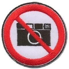 Opstrijkbare applicatie No Picture (5 stuks)
