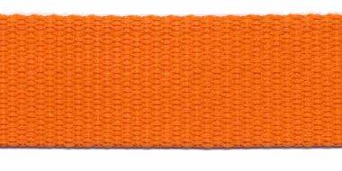 Tassenband 25 mm oranje (50 m)