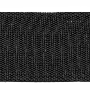 Tassenband 50 mm zwart (50 m)