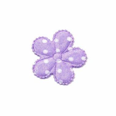 Applicatie bloem lila met witte stippen klein (ca. 100 stuks)
