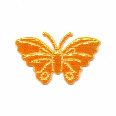 Applicatie glim vlinder oranje middel 40 x 25 mm (ca. 100 stuks)