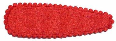 Haarkniphoesje fluweel rood 5 cm (ca. 20 stuks)