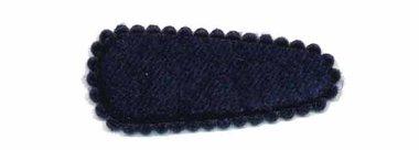 Haarkniphoesje fluweel donker blauw 3 cm (ca. 20 stuks)