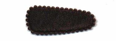 Haarkniphoesje fluweel bruin 3 cm (ca. 100 stuks)