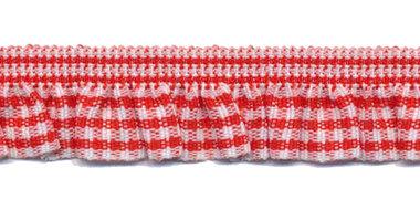 Rood-wit geruite roezel elastiek 19 mm (ca. 10 meter)
