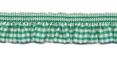 Groen-wit geruite roezel elastiek 19 mm (ca. 10 meter)
