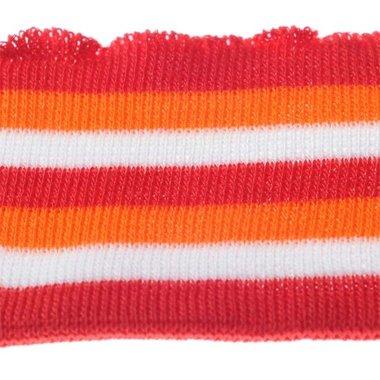 Boord rood-oranje-wit gestreept ca. 62 cm (6 stuks)