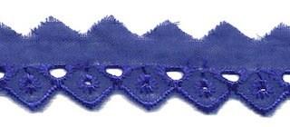 Broderie kobalt blauw 25 mm (ca. 13,5 m)