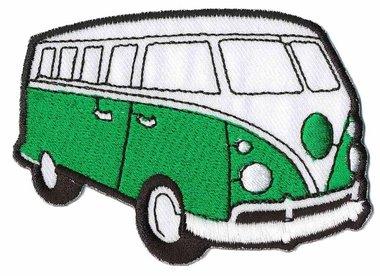 Opstrijkbare applicatie 'VW bus' groen (5 stuks)