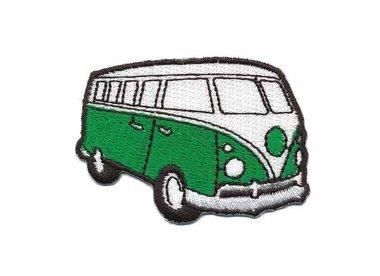 Opstrijkbare applicatie 'VW bus' groen klein (5 stuks)