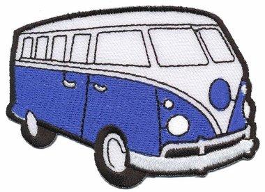 Opstrijkbare applicatie 'VW bus' blauw (5 stuks)