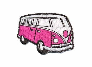 Opstrijkbare applicatie 'VW bus' fuchsia klein (5 stuks)