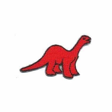 Opstrijkbare applicatie dinosaurus rood (5 stuks)
