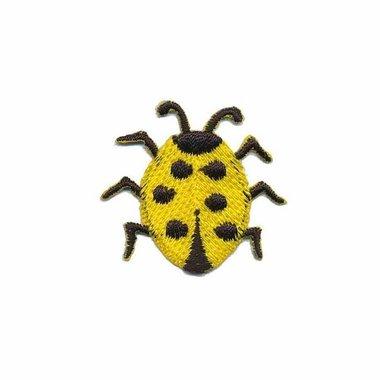 Opstrijkbare applicatie lieveheersbeestje geel (5 stuks)