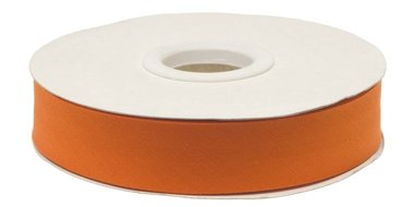Oranje gevouwen biaisband 20 mm (20 meter)