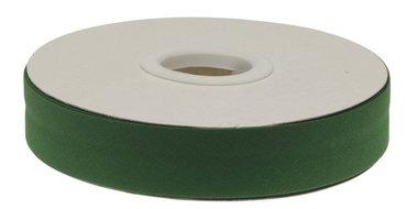 Donker groen gevouwen biaisband 20 mm (20 meter)