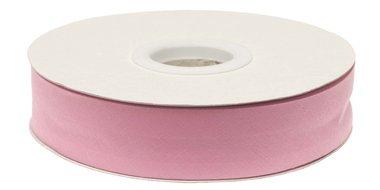 Roze gevouwen biaisband 20 mm (20 meter)