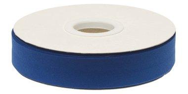 Kobalt blauw gevouwen biaisband 20 mm (20 meter)