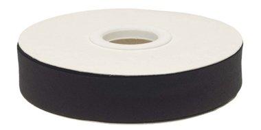 Zwart gevouwen biaisband 20 mm (20 meter)