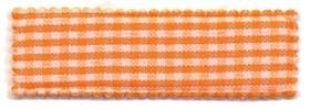 Haarkniphoesje oranje-wit geruit 5 cm rechthoekig (ca. 100 stuks)