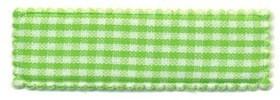 Haarkniphoesje groen-wit geruit 5 cm rechthoekig (ca. 100 stuks)